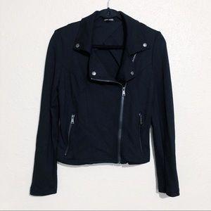 Express Black Knit Moto Jacket